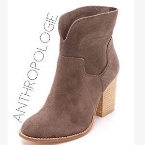 Anthropologie X Splendid taupe grey suede boots 7